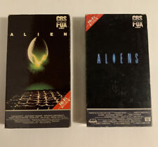 Alien & Aliens VHS Movie Lot James Cameron Sigourney Weaver CBS FOX Tested