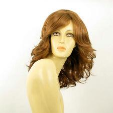 mid length wig for women wavy dark blond copper ref charlotte g27  PERUK