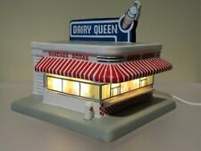 Ceramic Lighted Dairy Queen Diner from Hawthorne Village 1996 Beautiful Detail!