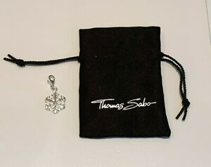 Thomas Sabo Sterling Silver Snowflake Charm 0281