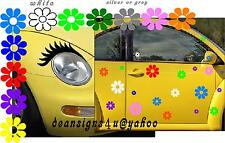 Eyelashes & 40 Flowers Set Car vw beetle volkswagen headlight daisy conform USA