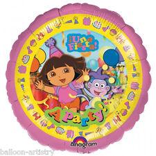 """18"""" Dora the Explorer PINK Una Fiesta A Party Round Foil Balloon"""