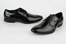 Mens New Black Patent Wedding Smart Suit Formal Shoes 6.5 7 8 9 10 10.5 11 12