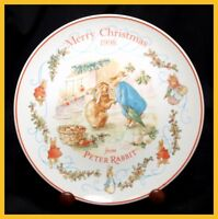 Wedgwood - Peter Rabbit - Christmas Plate 1998