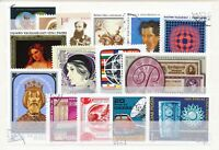 UNGARN, 15 moderne Sondermarken, sauber gestempelt auf Steckkarte