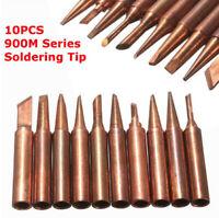 Solder Tool Electric Iron Head Series 10pcs/Set 900M-T Soldering Tip Pure Copper