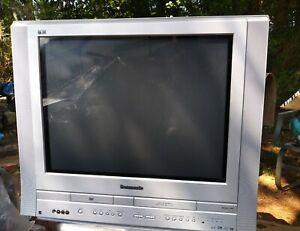 "Panasonic PV-DF2704 27"" CRT TV/DVD/VCR Retro Gaming Combo Television no Remote"
