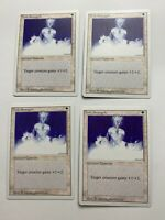 4x Vintage Playset HOLY STRENGTH MTG  Revised Magic the Gathering