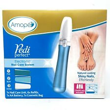 Amope Pedi Perfect Electronic Nail Care System w/ 6 Refills & Bag GIFT SET - NEW