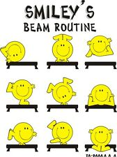 Smiley Gymnastic Beam routine t-shirt clothing