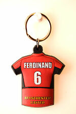 Rio Ferdinand 6 Keyring Man Utd Manchester United Football Club FC Red T-Shirt