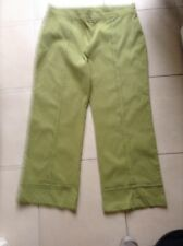 TS LADIES LIME GREEN PANTS, STRETCHY, SIZE 14