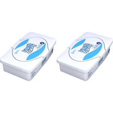 """2 Pack Dynarex Flush Away Flushable Baby Wipes 9""""x13"""" #1321 60 Wipes Each"""