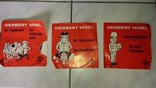 Vinyl Singel von Herbert Hisel - 3 Stück Komiker der 60er + 70er Jahre COMEDY