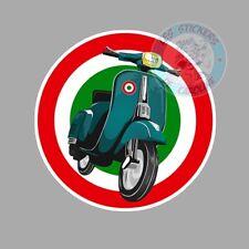 STICKER VESPA SCOOTER SCUDERIA ITALIA ITALIE COCARDE AUTOCOLLANT SC202