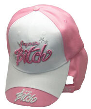 Super Bitch Mean Girl Woman Lady Pink Embroidered Cap Hat RAM