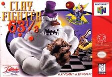 Nintendo 64 N64 Clayfighter Clay Fighter 63 1/3 Game Cartridge *Cosmetic Wear*