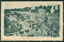 Napoli Ercolano PIEGA cartolina XB2736