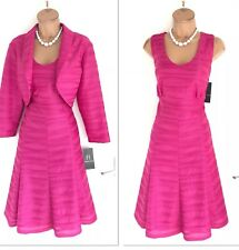 FRANK LYMAN Pink Outfit Uk 16/ Fit & Flare Dres & Jacket/ New