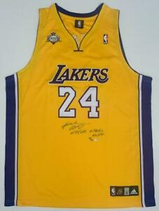 """KOBE BRYANT Autographed """"07-08 NBA MVP"""" Authentic Lakers Jersey UDA LE 124"""