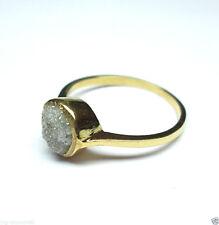 Natural Raw Beautiful Rough Solitaire Diamond Ring 14K