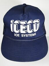 7d5824172d7 VINTAGE 1980s ICECO ICE SYSTEMS MACHINES Advertising TRUCKER SNAPBACK HAT  CAP