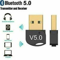 USB Bluetooth 5.0 Adapters Wireless Dongle Stereo Audio For TV PC Receiver T1Y5