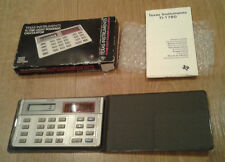 NICE VINTAGE BOXED TEXAS INSTRUMENTS TI-1780 LIGHT POWERED CALCULATOR UNUSED?
