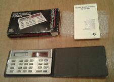 BEL VINTAGE IN SCATOLA TEXAS INSTRUMENTS TI-1780 calcolatrice alimentata luce inutilizzato?