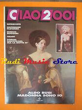 rivista CIAO 2001 28/1990 POSTER Madonna  Enrico Ruggeri Hothouse Flowers *No cd