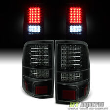 Black Smoke 2004-2008 Ford F150 LOBO Pickup Full LED Tail Lights Brake Lamps G2