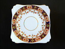 "MONA by SALISBURY FINE BONE CHINA MADE IN ENGLAND ~ 8 1/2"" SQUARE CAKE PLATE .."
