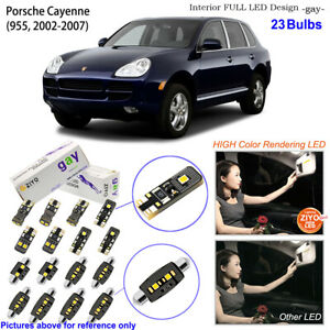 23 Bulbs Deluxe LED Interior Light Kit White For (955) 2002-2007 Porsche Cayenne