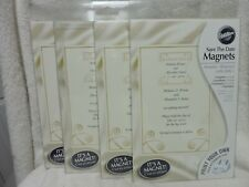 Wilton Invitations Save The Date Magnets lot of 24