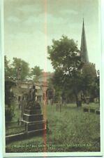 All Saints Church  Ashover Derbyshire unused 1920s postcard