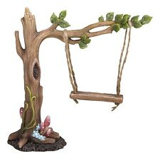 BRAND NEW LEAF TREE SWING GARDEN ORNAMENT FAIRIES/PIXIES