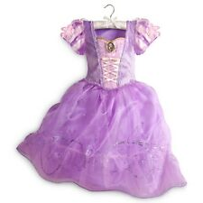 Girl RAPUNZEL Costume Purple Dress w Cameo Child XS Small 4 DISNEY STORE Tangled