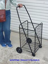 SHOPPING TROLLEY HEAVY DUTY ALL METAL FOLDING- BRAND NEW.