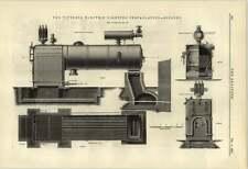 1884 impianto di illuminazione elettrica Victoria CALDAIE