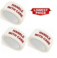 More details for warning tape fragile handle with care 48mm x 66m sealing good quality tape