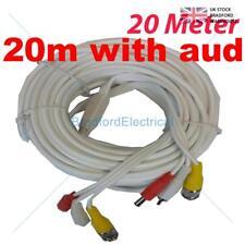 BNC DC CCTV Security  Video Camera DVR Data Power Cable - 20M AUDIO