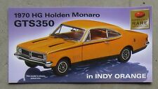 HOLDEN HG MONARO GTS 350 1970 brochure card 1/24 TRAX SuperScale limited diecast