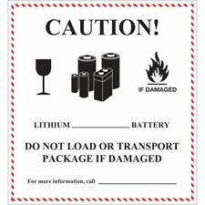 "Air Labels - Lithium Battery Handling, 4 5⁄8 x 5"" - 500/roll"