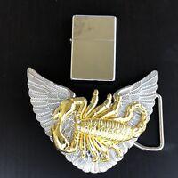 Wings LIGHTER Belt Buckle 3D Removable Lighter Plain High Quality