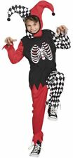 Boys Horror Harlequin Costume Child Halloween Jester Fancy Dress Outfit
