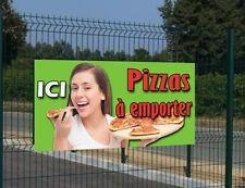"""Banderole """"Ici Pizzas à emporter"""" pour Pizzeria"""