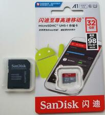 32 GB/64 GB Sandisk ultra Micro Sd Memory Card SDHC 98MB Class 10 With SD Adap