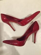 Aldo Women's Red Patent Leather Classic Pointy Toe Pumps Heels Size 38 EUC