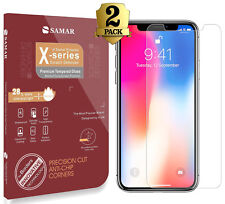 iPhone X  Tempered Glass 2 in Pack Screen Protector Bubble free for iPhone 10