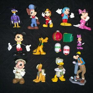 Disney Mickey Mouse Lot Figures Minnie Pluto Goofy Donald Duck Tsum Tsum Etc